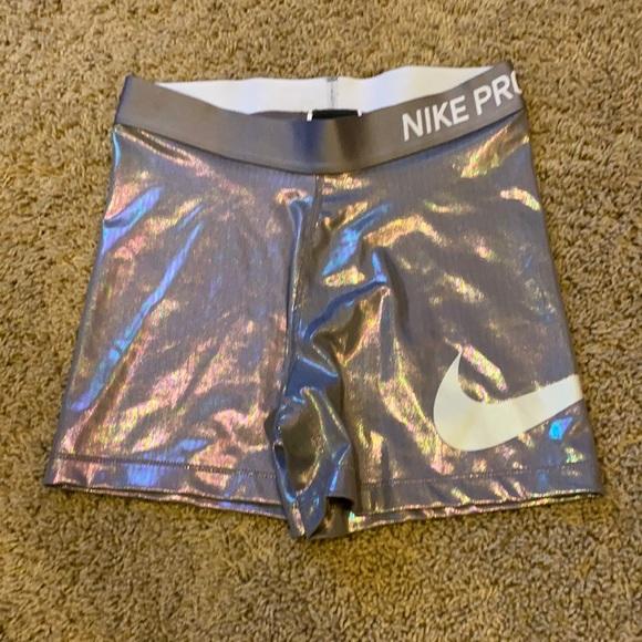 Nike Pro Compression shorts Silver Metallic